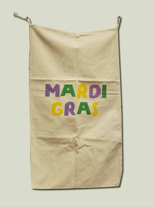 Mardi Gras Canvas Bead Bag
