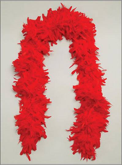 Feather Boa Red