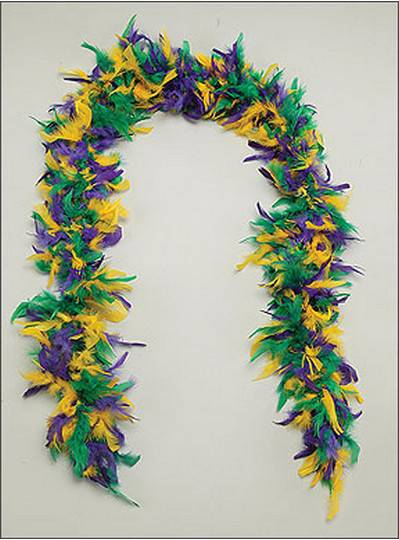 Feather Boa Purple, Green & Gold