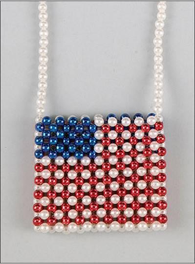 Beaded Purse American Flag Theme