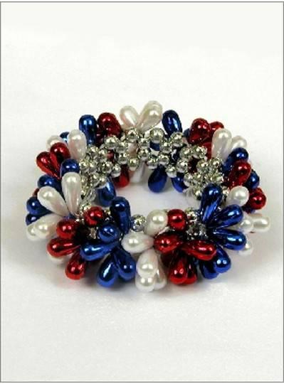 Teardrop Bracelet Red, White & Blue