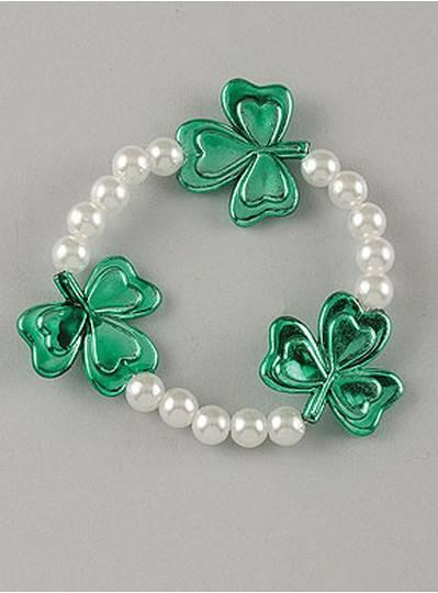 Theme Bracelets Shamrocks & Pearls