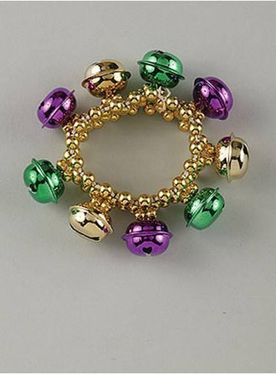 Bell Style Bracelets Purple, Green & Gold
