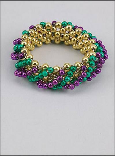 Swirl Style Bracelets Purple, Green & Gold