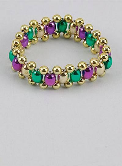 Egg Style Bracelets Purple, Green & Gold