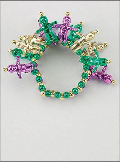 King Cake Baby Bracelets Purple, Green & Gold