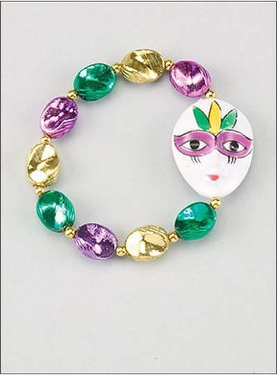 Mardi Gras Mask Bracelets Purple, Green & Gold