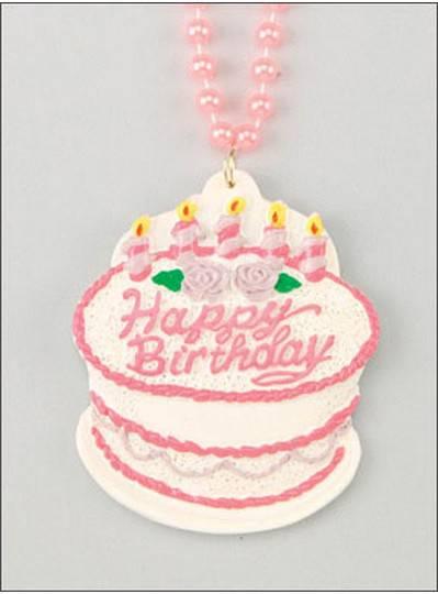 Birthday Beads BDay Cake Pink
