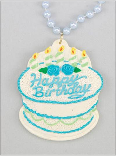 Birthday Beads BDay Cake Blue