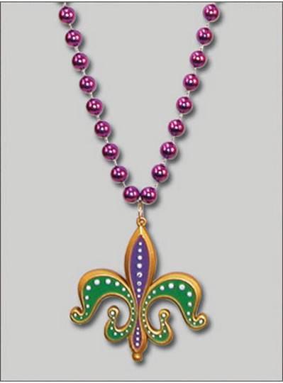 Mardi Gras Themes Fleur de Lis Medallions