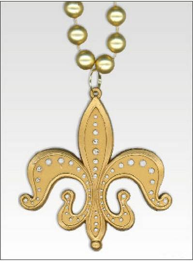 New Orleans Themes Fleur de Lis Gold