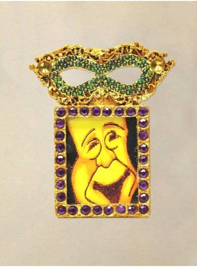 "Decorations 9"" Mardi Gras Mask Frame Ornament"
