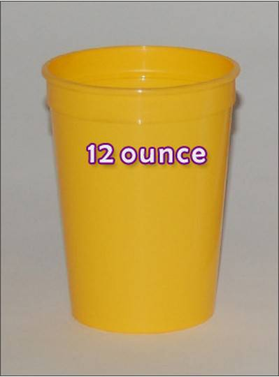 Plastic Cups 12 Ounce Yellow