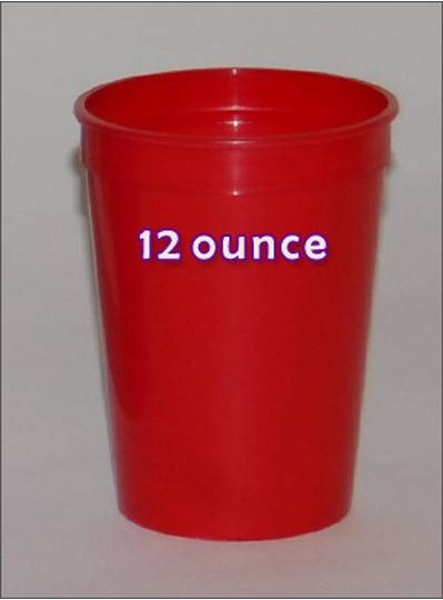Plastic Cups 12 Ounce Red