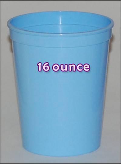 Plastic Cups 16 Ounce Light Blue