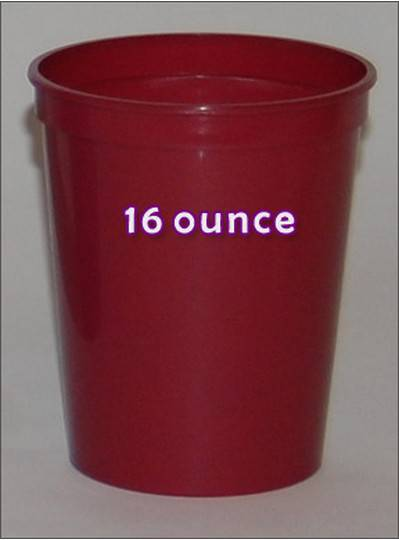 Plastic Cups 16 Ounce Maroon