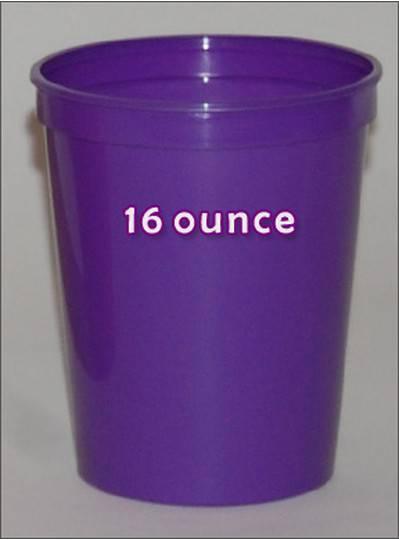 Plastic Cups 16 Ounce Purple
