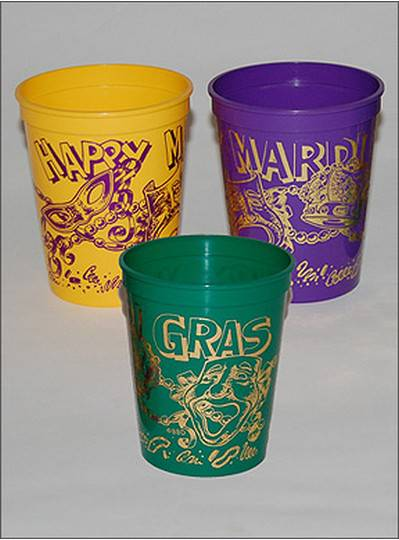 New Orleans Mardi Gras Cups
