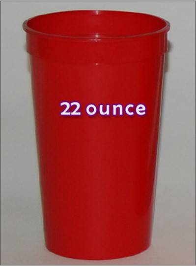 Plastic Cups 22 Ounce Red