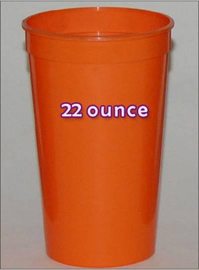 Plastic Cups 22 Ounce Orange