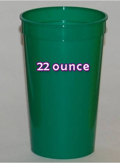 Plastic Cups 22 Ounce Green