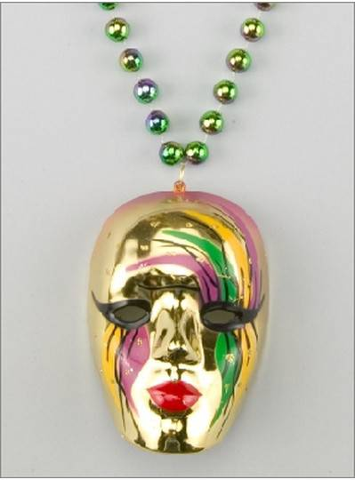 Mardi Gras Themes Mask Medallion Gold