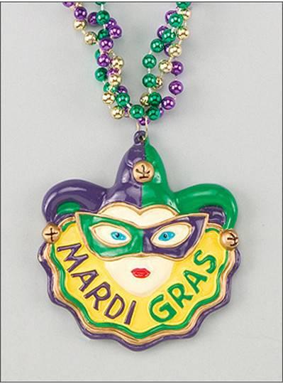 Mardi Gras Themes Mask on Twist Bead