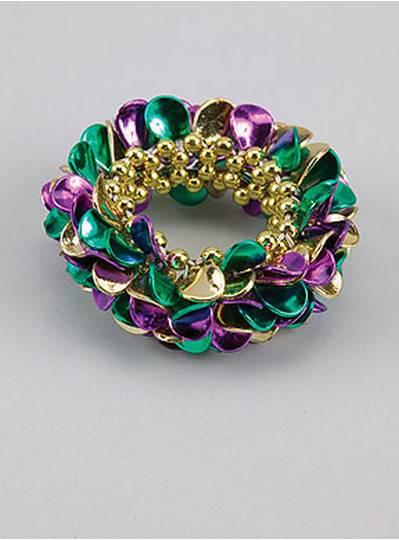 Leaf Style Bracelets Purple, Green & Gold