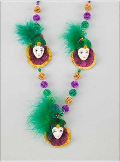 Mardi Gras Themes Porcelain Dolls Feather
