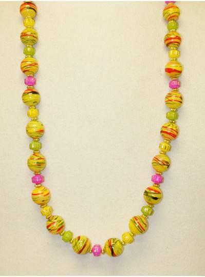 Handstrung Beads Marble Swirls PGG