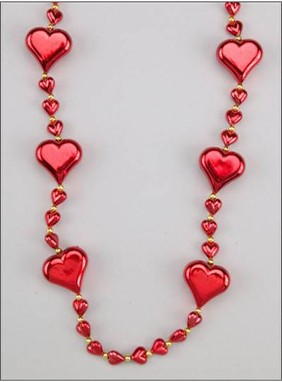 Heart Themes Metallic Red Hearts