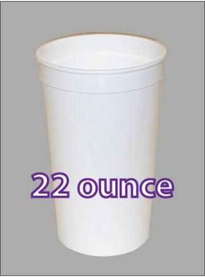 Plastic Cups 22 Ounce White