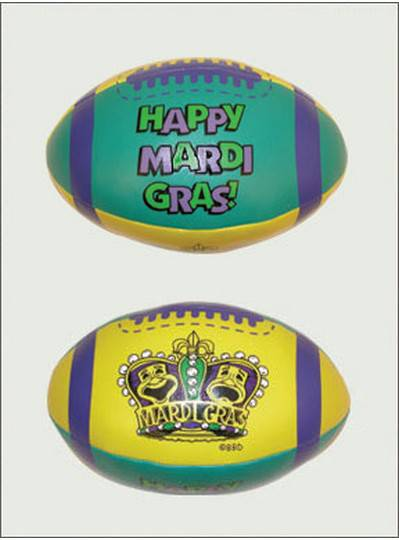 "Plush Toys 7"" Mardi Gras Crown Vinyl Football"