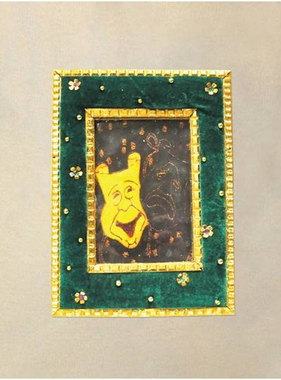 """Decorations 14"""" Purple, Green and Gold Picture Frame"""