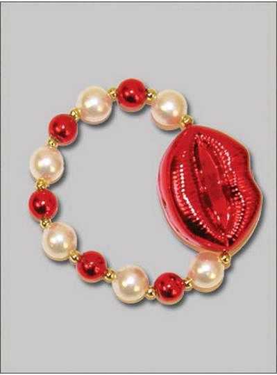 Heart Theme Bracelets Red Lips