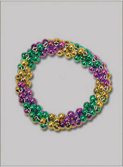 Saucer Style Bracelets Purple, Green & Gold