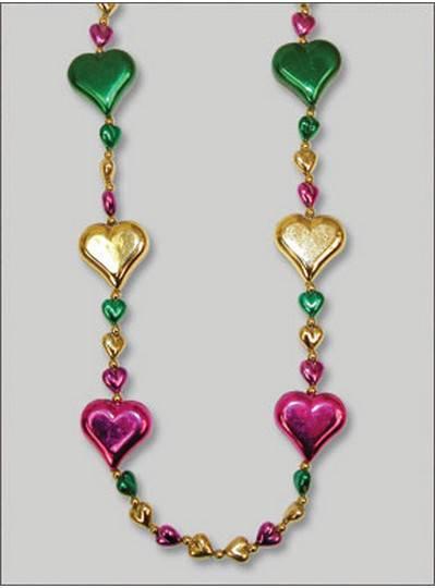 Heart Themes Purple, Green & Gold Hearts