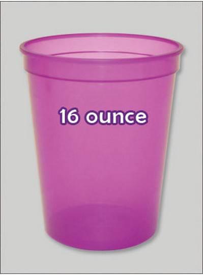Plastic Cups 16 Ounce Purple C-Thru