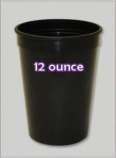 Plastic Cups 12 Ounce Black