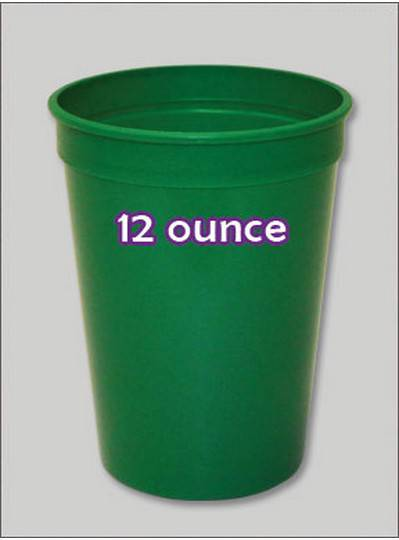 Plastic Cups 12 Ounce Green