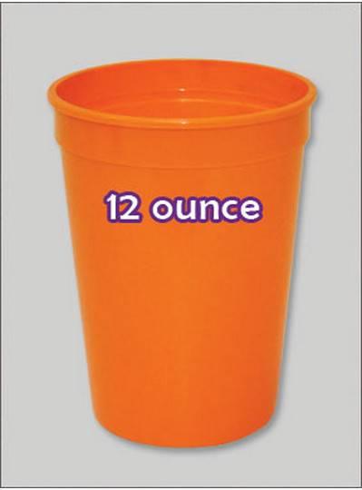Plastic Cups 12 Ounce Orange