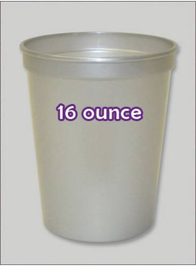 Plastic Cups 16 Ounce Silver Pearl