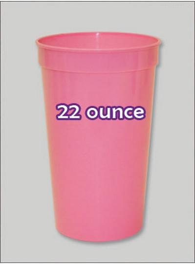 Plastic Cups 22 Ounce Pastel Pink