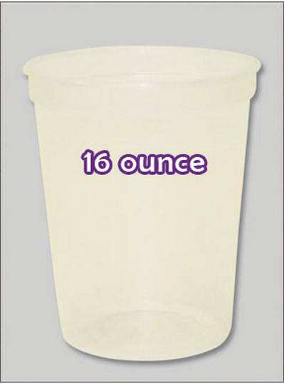 Plastic Cups 16 Ounce Natural