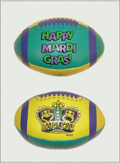 """Plush Toys 6"""" Mardi Gras Crown Vinyl Football"""