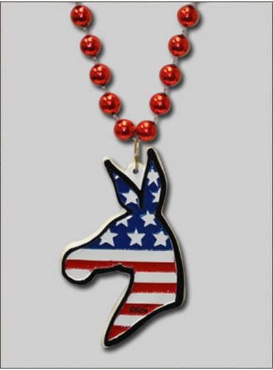 Patriotic Beads Democrate Donkey