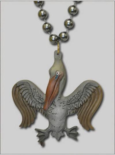 New Orleans Themes Oiled Fleur de Lis Pelican