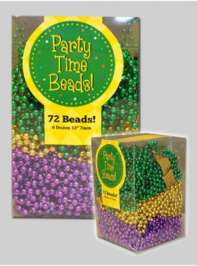 Bead Box- 72 Mardi Gras Beads PGG