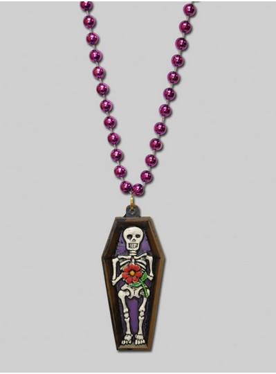 Halloween Beads Day Of The Dead Coffin