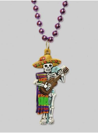 Halloween Beads Skeleton with Guitar